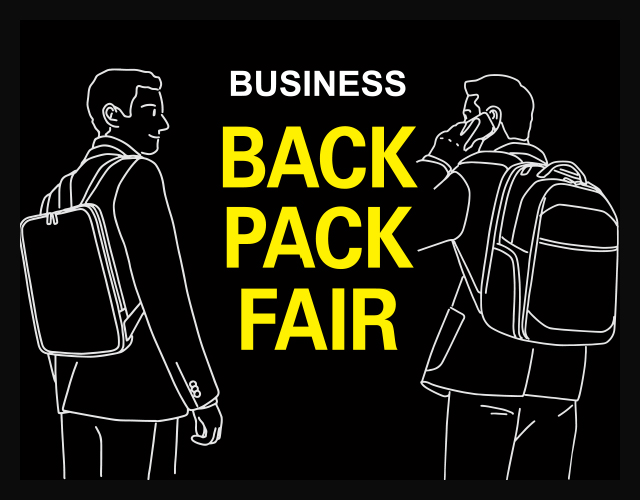 BUSINESS BACKPACK FAIR 開催のお知らせ